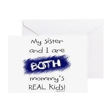 Sister and I both real kids Greeting Card