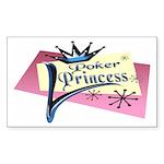 Poker Princess Rectangle Sticker
