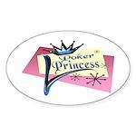 Poker Princess Oval Sticker