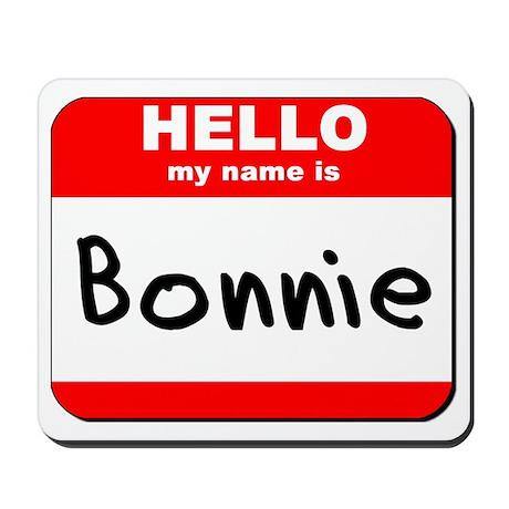 Hello my name is Bonnie Mousepad
