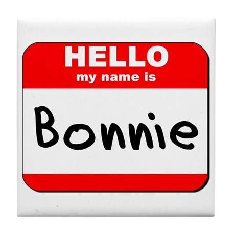 Hello my name is Bonnie Tile Coaster