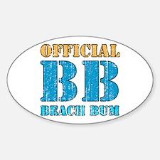 Official Beach Bum Oval Decal