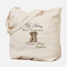Combat boots Proud girlfriend Tote Bag