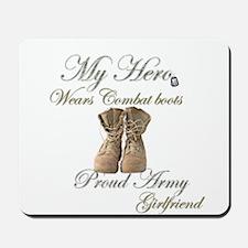 Combat boots Proud girlfriend Mousepad