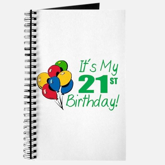 It's My 21st Birthday (Balloons) Journal