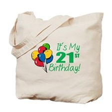 It's My 21st Birthday (Balloons) Tote Bag
