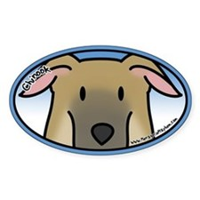 Anime Chinook Oval Bumper Stickers