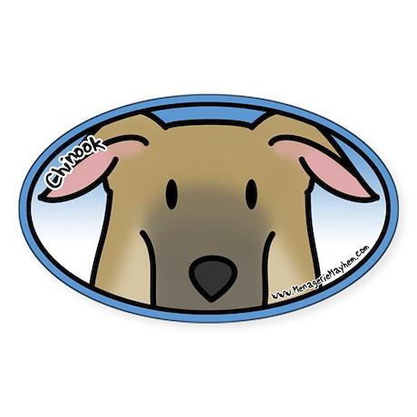 Anime Chinook Oval Sticker