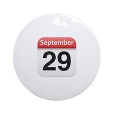 Apple iPhone Calendar September 29 Ornament (Round