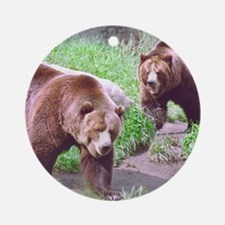 Grizzly Bear Brothers Keepsake (Round)