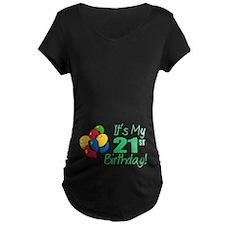 It's My 21st Birthday (Balloons) T-Shirt