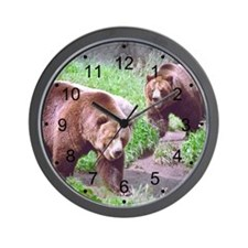Grizzly Bear Brothers Wall Clock