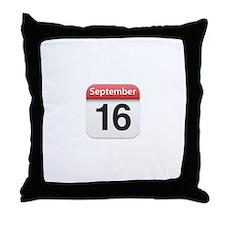 Apple iPhone Calendar September 16 Throw Pillow