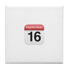 Apple iPhone Calendar September 16 Tile Coaster