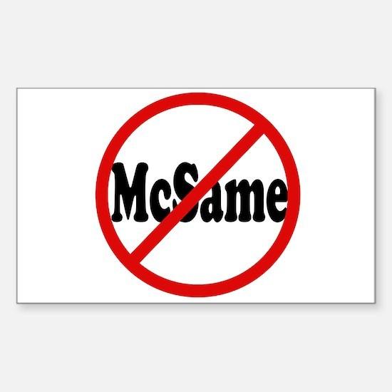 No McSame Rectangle Decal
