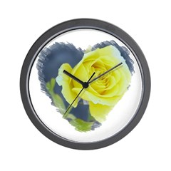 Hearts and Roses #4332 Wall Clock