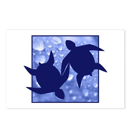 Turtle Duo Postcards (Package of 8)