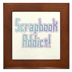 Scrapbook Addict Framed Tile