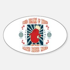 Red Bean Chef Oval Decal