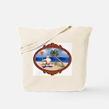 Tropical Santa / Mermaid Star Tote Bag