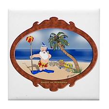 Tropical Santa Tile Coaster