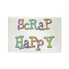 Scrap Happy Rectangle Magnet