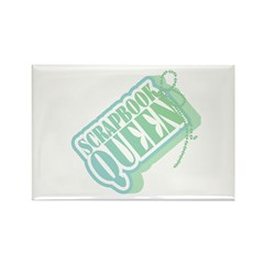Tagged Scrapbook Queen Rectangle Magnet (10 pack)