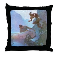 Desperate Effort Throw Pillow