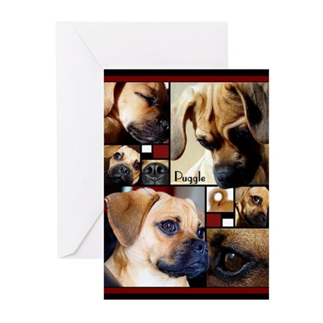 Puggle Parts Greeting Cards (Pk of 20)