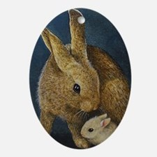 On Sale Bunny Oval Ornament