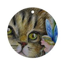 Cat and Fairy Christmas Ornament