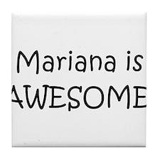 Cute I love mariana Tile Coaster