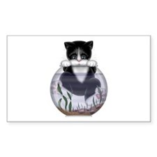 Kitty - Hang In There! Rectangle Decal