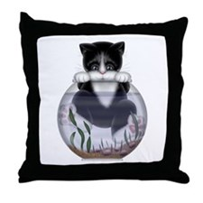 Kitty - Hang In There! Throw Pillow