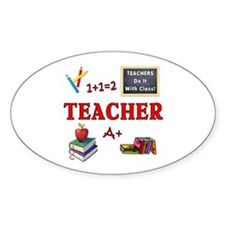 Teachers Do It With Class Decal