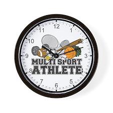 Multi-Sport Athlete Wall Clock