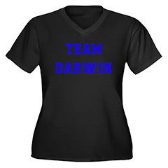 Team Darwin Women's Plus Size V-Neck Dark T-Shirt