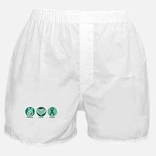 Peace Love Green Hope Boxer Shorts