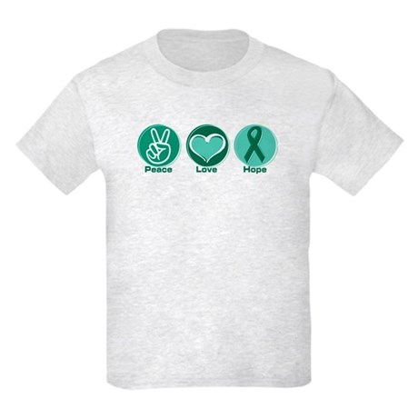 Peace Love Green Hope Kids Light T-Shirt