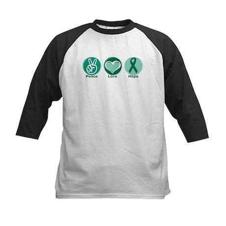 Peace Love Green Hope Kids Baseball Jersey