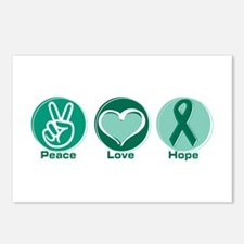 Peace Love Green Hope Postcards (Package of 8)