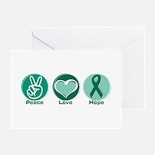 Peace Love Green Hope Greeting Card