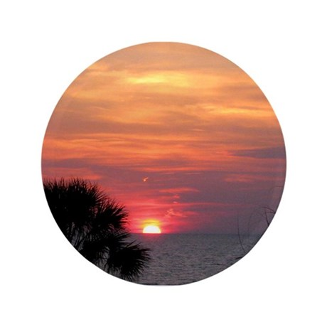 """Tropical Sun 3.5"""" Button"""