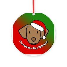Toon Chesapeake Bay Retriever Christmas Ornament