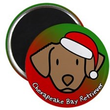 Cartoon Chesapeake Bay Retriever Christmas Magnet