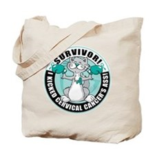 Cervical Cancer Survivor: Boxing Cat Tote Bag