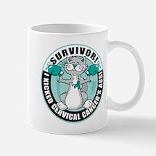 Cervical Cancer Survivor: Boxing Cat Mug