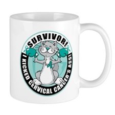 Cervical Cancer Survivor: Boxing Cat Mug