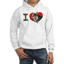 I heart wolves Hoodie