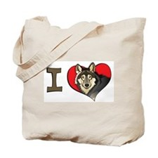 I heart wolves Tote Bag